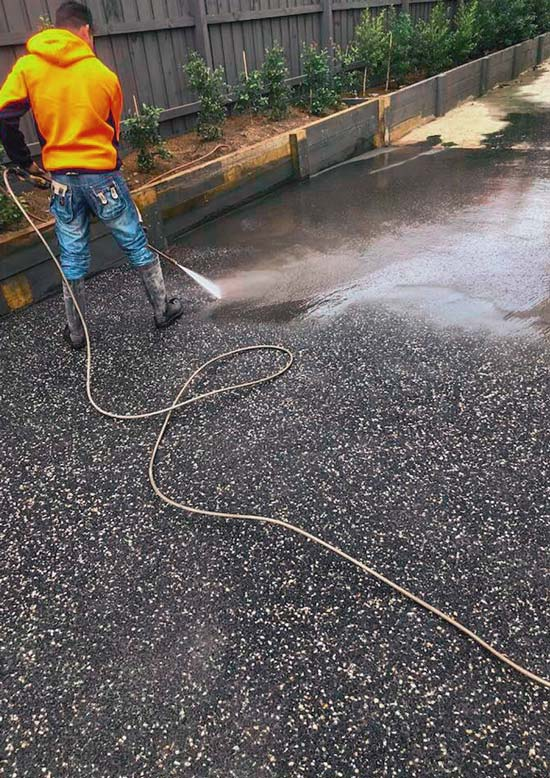 exposed aggregate driveway dandenong services